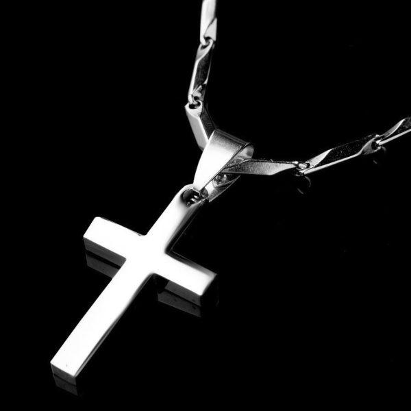 Стальной крест на шею