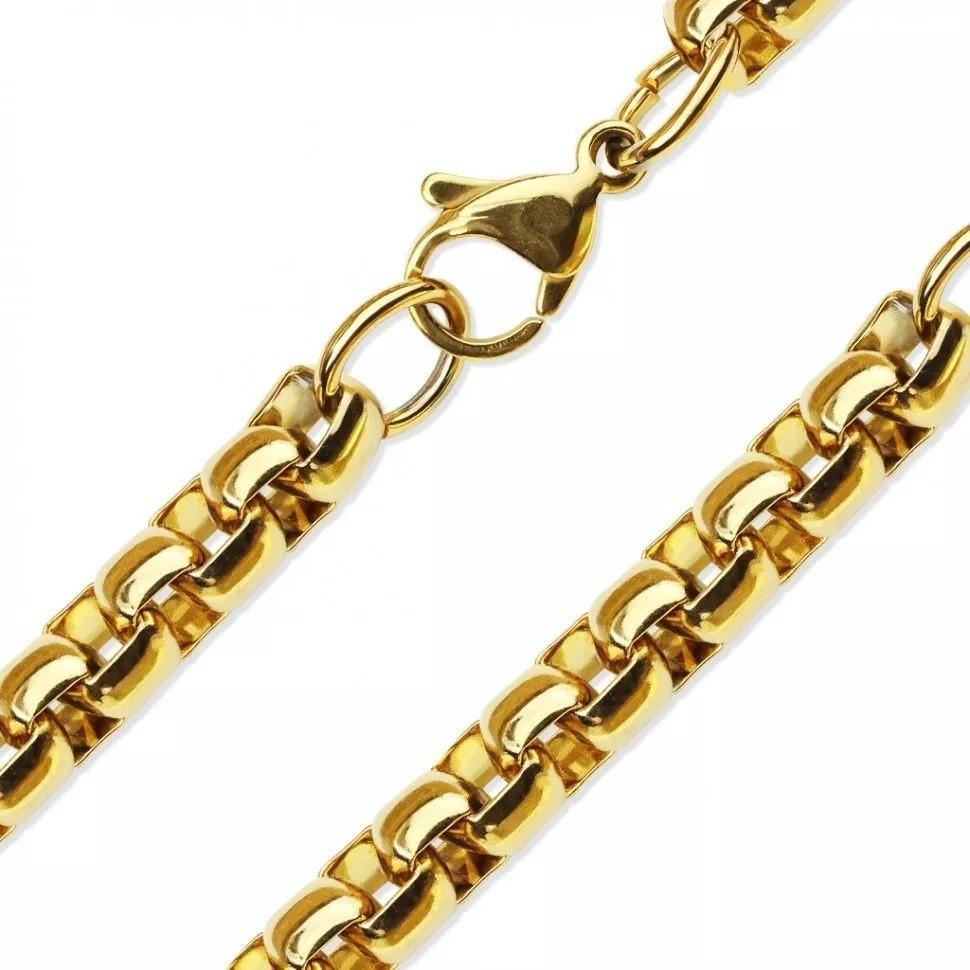 Толстая цепь на шею золотого цвета