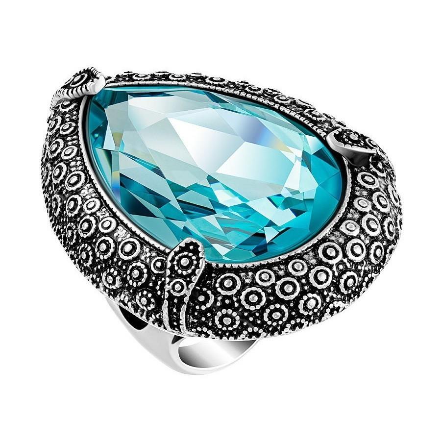 Женский перстень с голубым камнем
