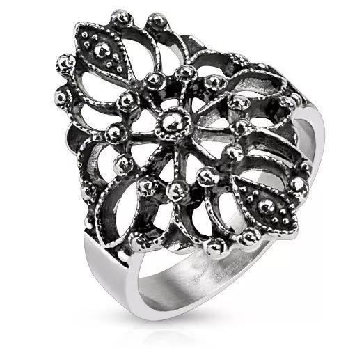 Шикарное женское кольцо с узором