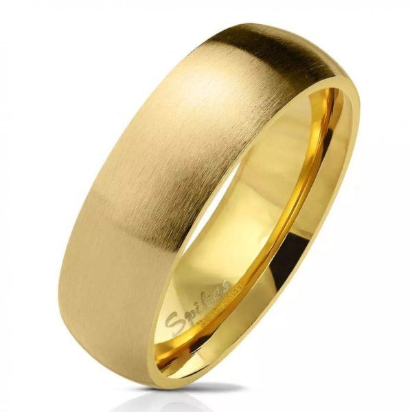 Классическое кольцо золотого цвета