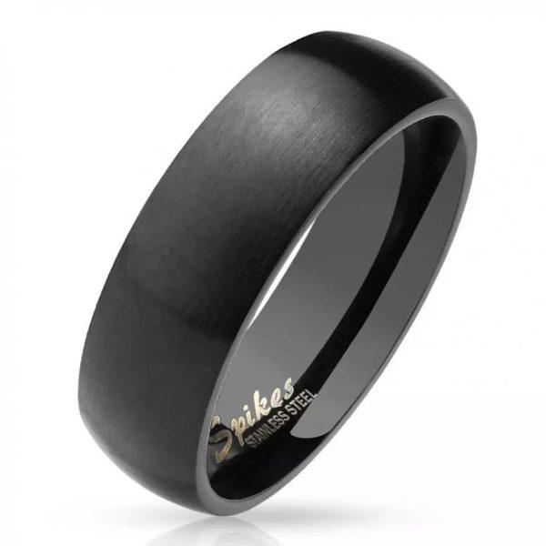 Классическое кольцо чёрного цвета