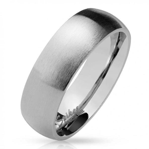 Классическое кольцо серебристого цвета