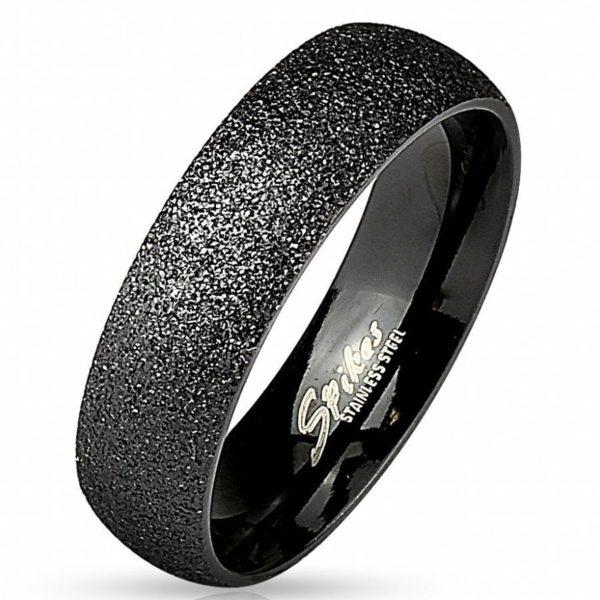 Чёрное мужское кольцо на палец