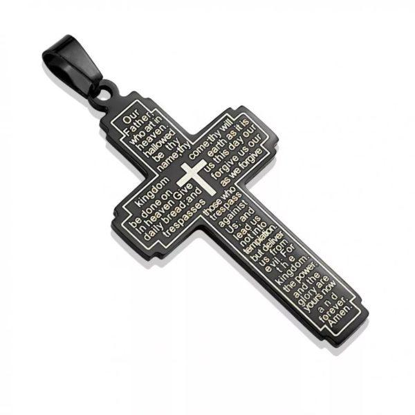 Нательный крестик чёрного цвета