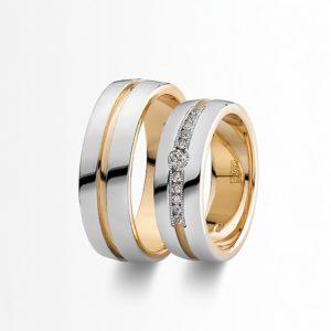 Эксклюзивные кольца для молодожён Chopard из белого и желтого золота