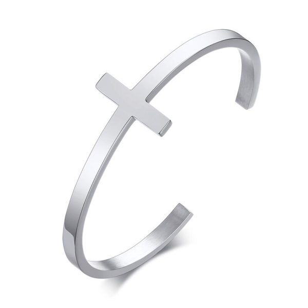Стальной браслет в форме Креста