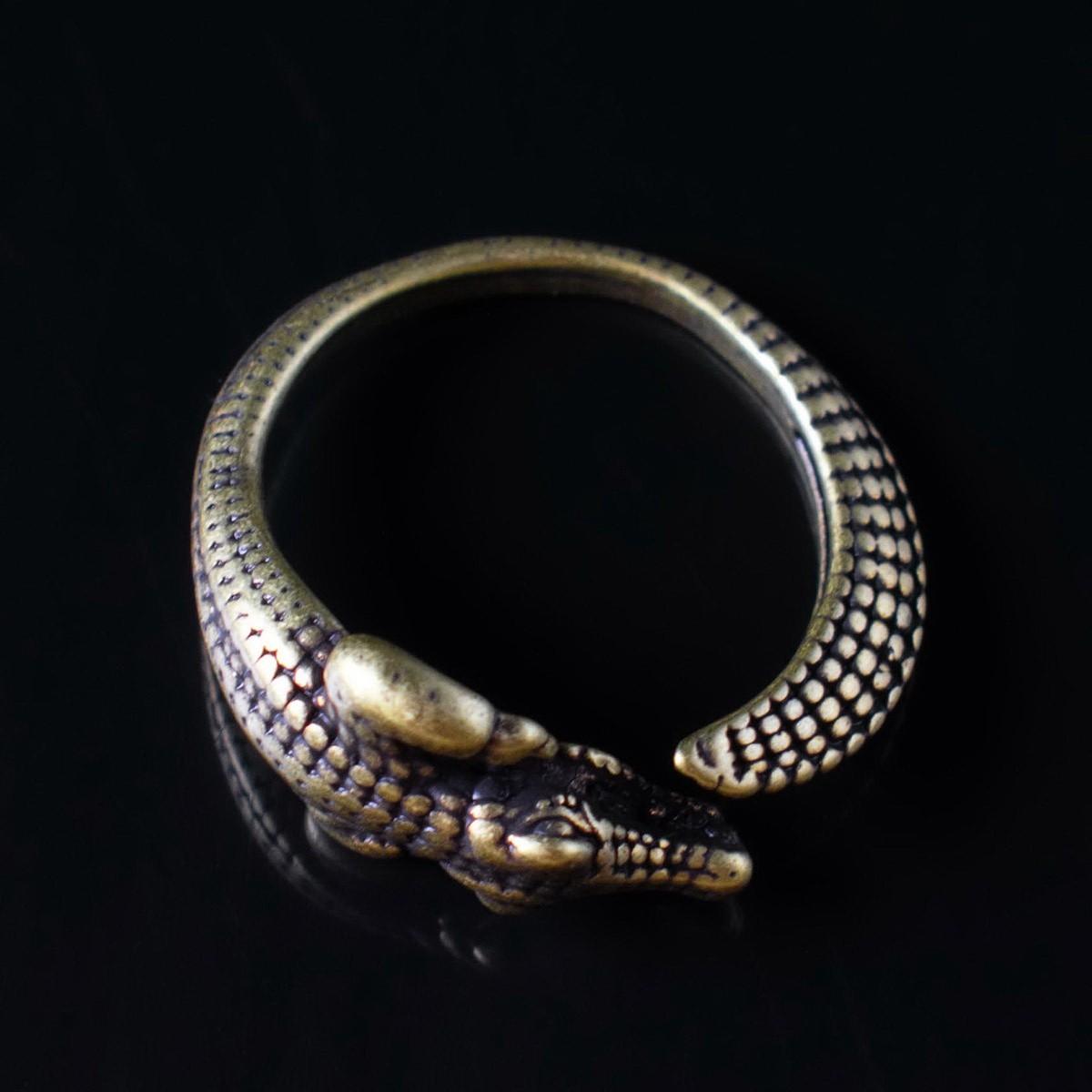 Кольцо Бронзовый Крокодил