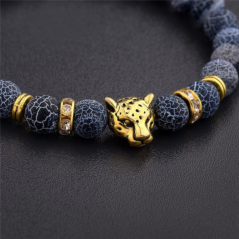 Браслет с леопардом золотистого цвета