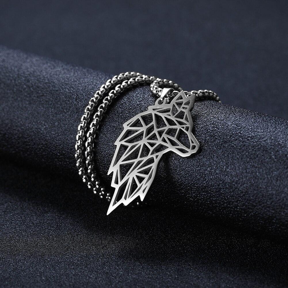 Кулон Волк на шею серебристого цвета
