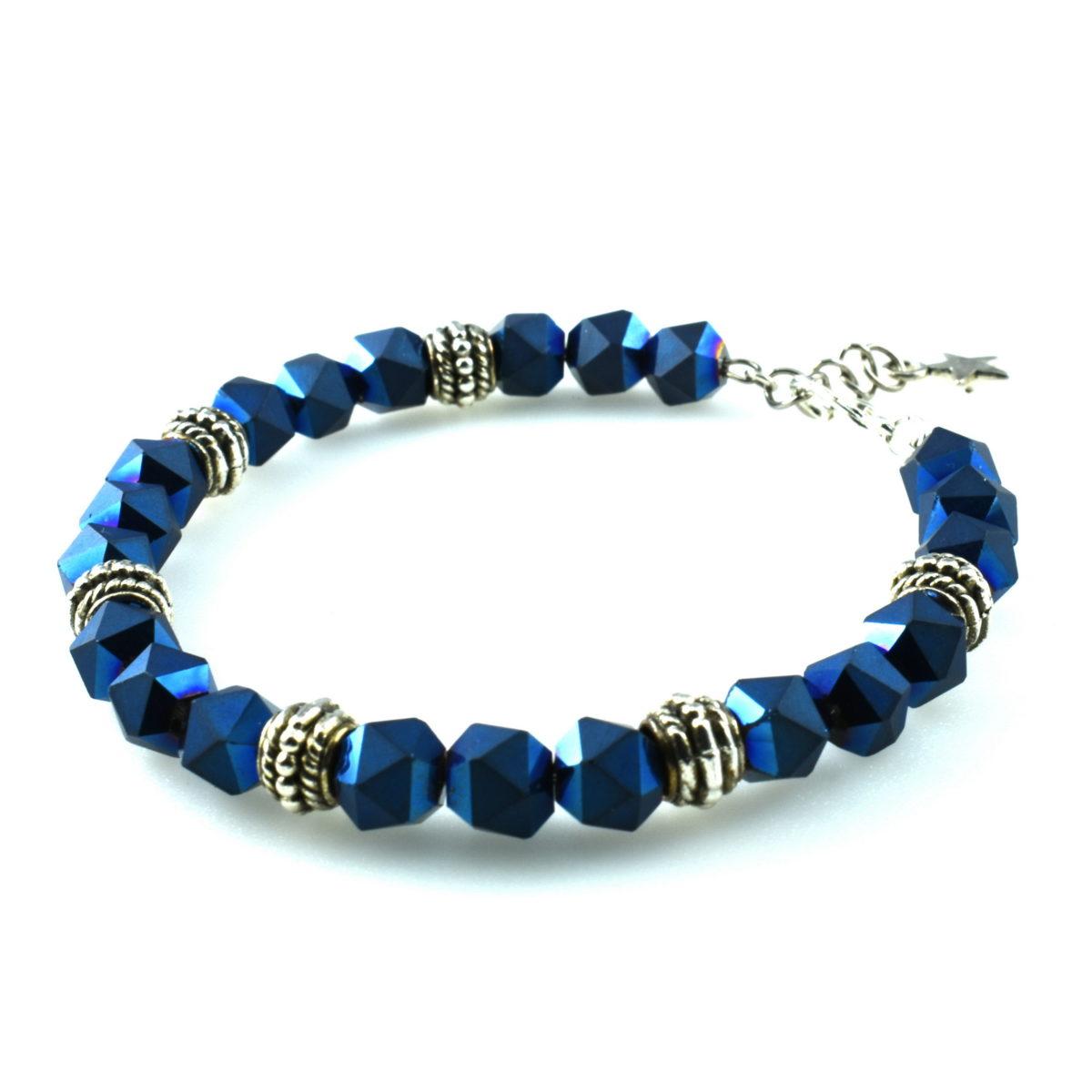 Шикарный синий женский браслет