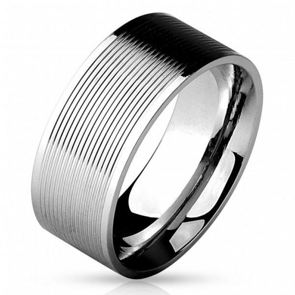 Классическое мужское кольцо из стали