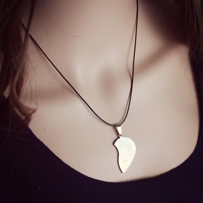 Кулон для влюбленного половинка сердечка
