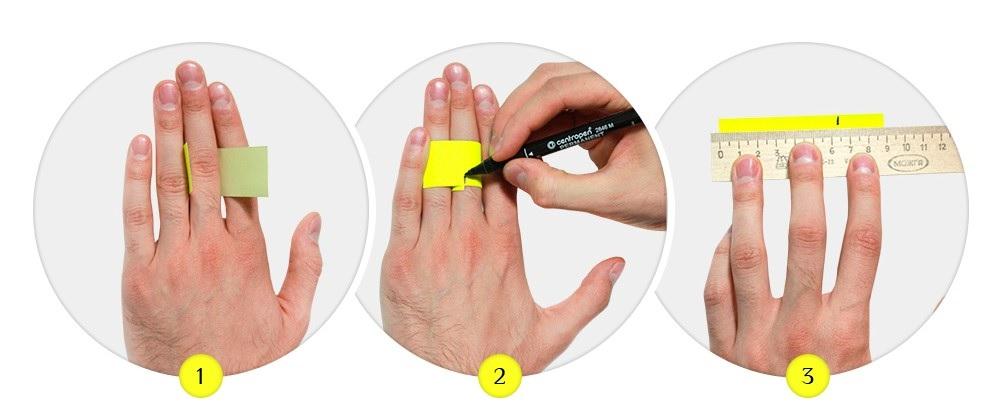 Определить размер кольца самому бумажкой