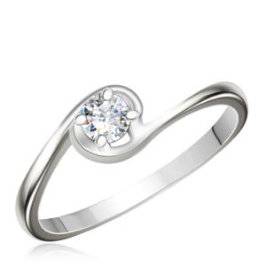 Серебристое помолвочное кольцо