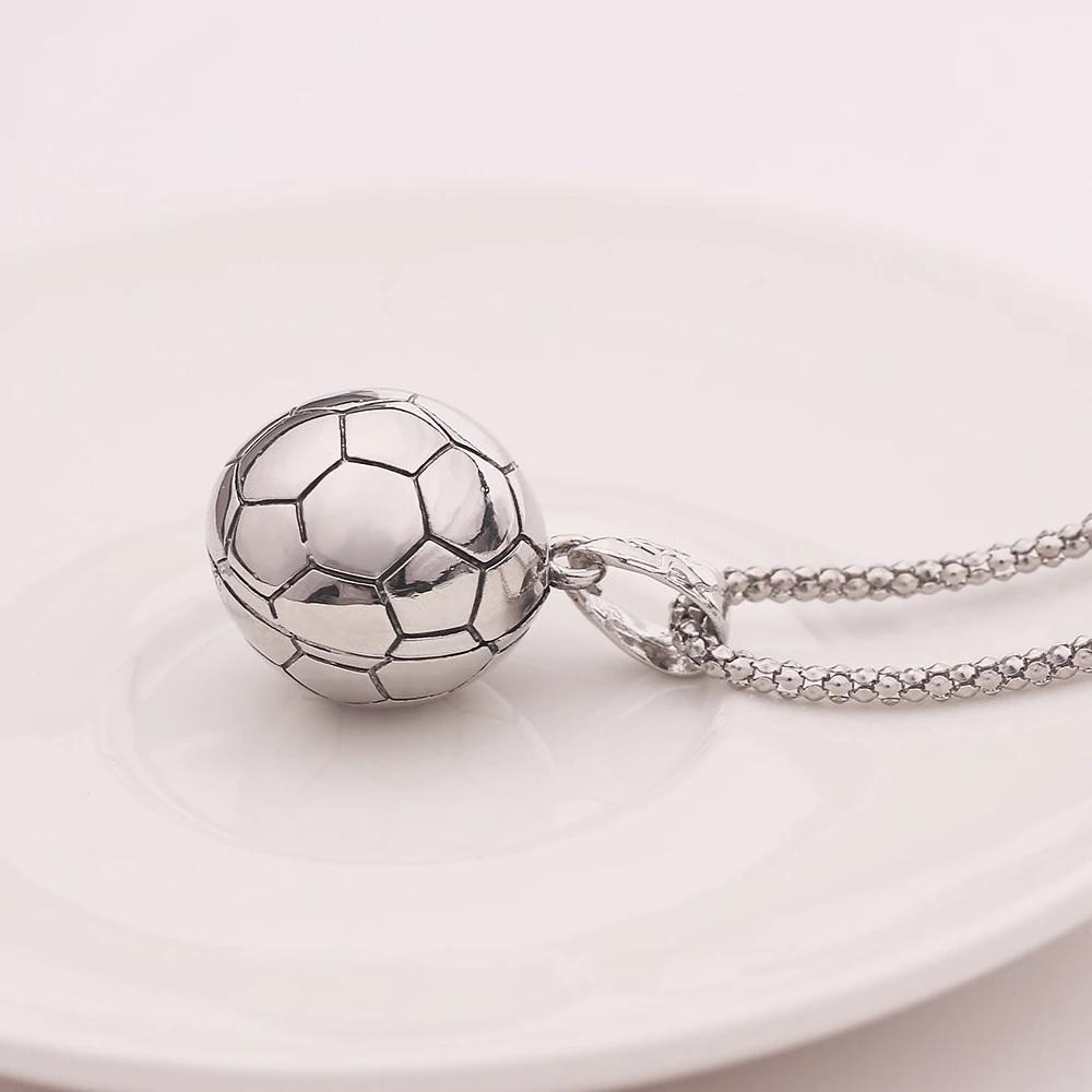 Кулон на шею футбольный мячик