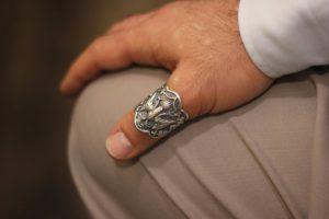 Мужское кольцо на большой палец