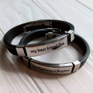 Браслеты для двоих друзей из каучука