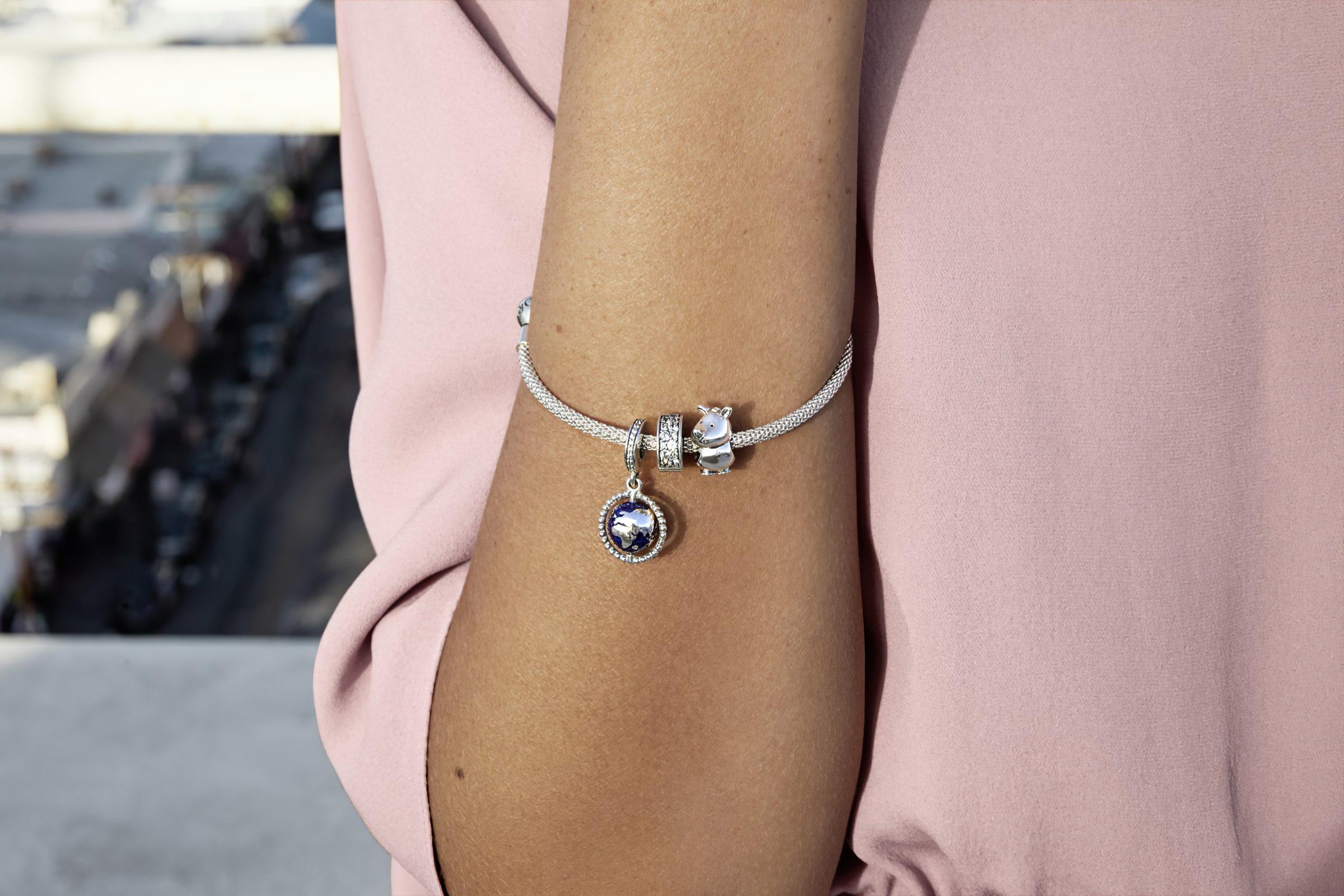Эксклюзивный женский браслет на руку Пандора