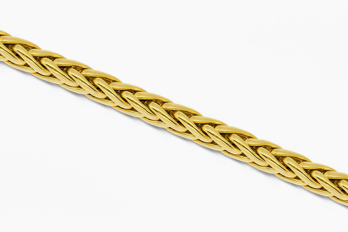 Красивое плетение Колос для цепочки