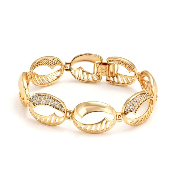 Золотистый женский браслет