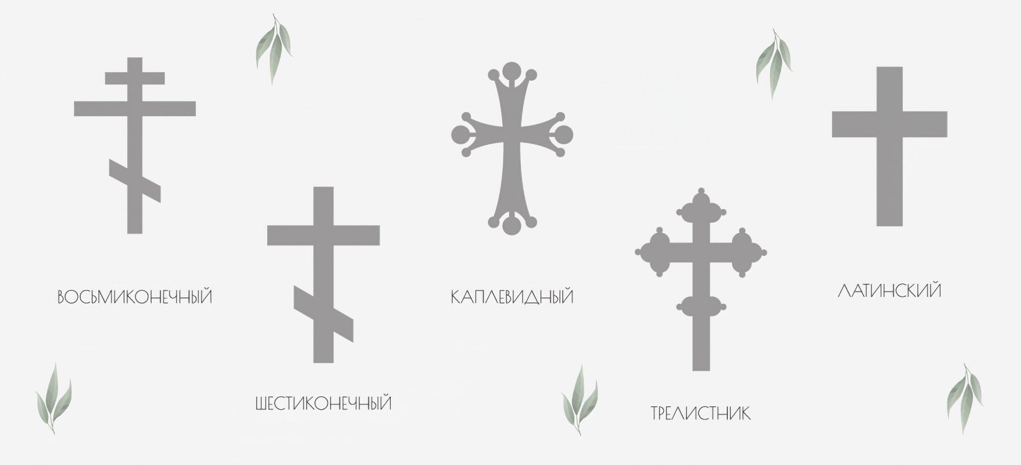 Виды крестиков на шею