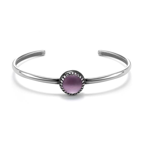Женский браслетик на руку с фиолетовым камнем