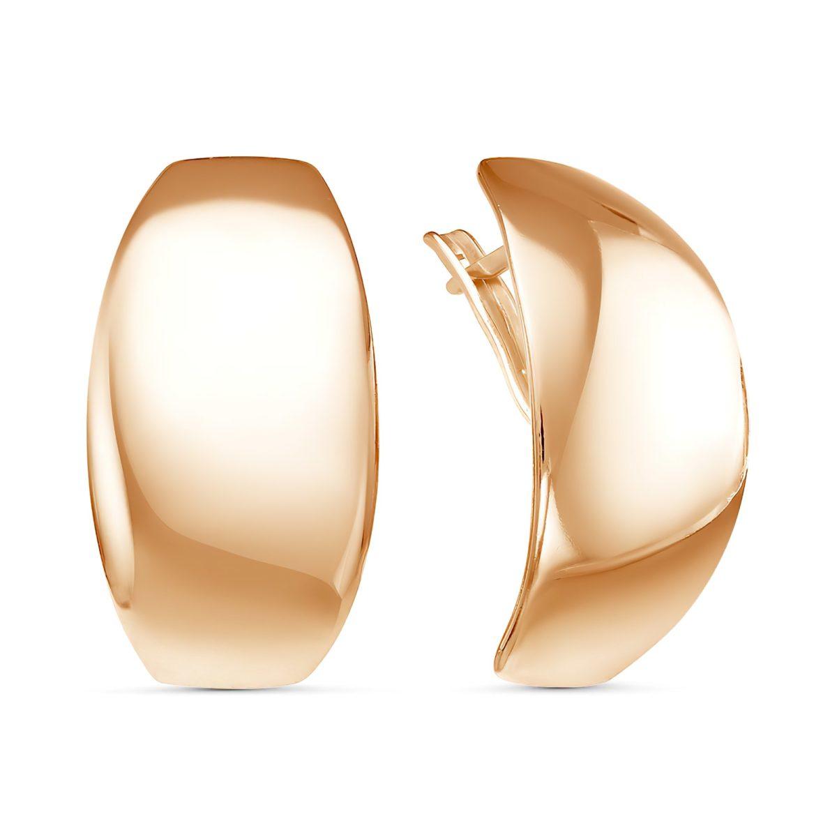 Золотистые серьги в стиле минимализм