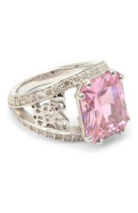 Кольцо с розовым кристаллом LevashovaElagina