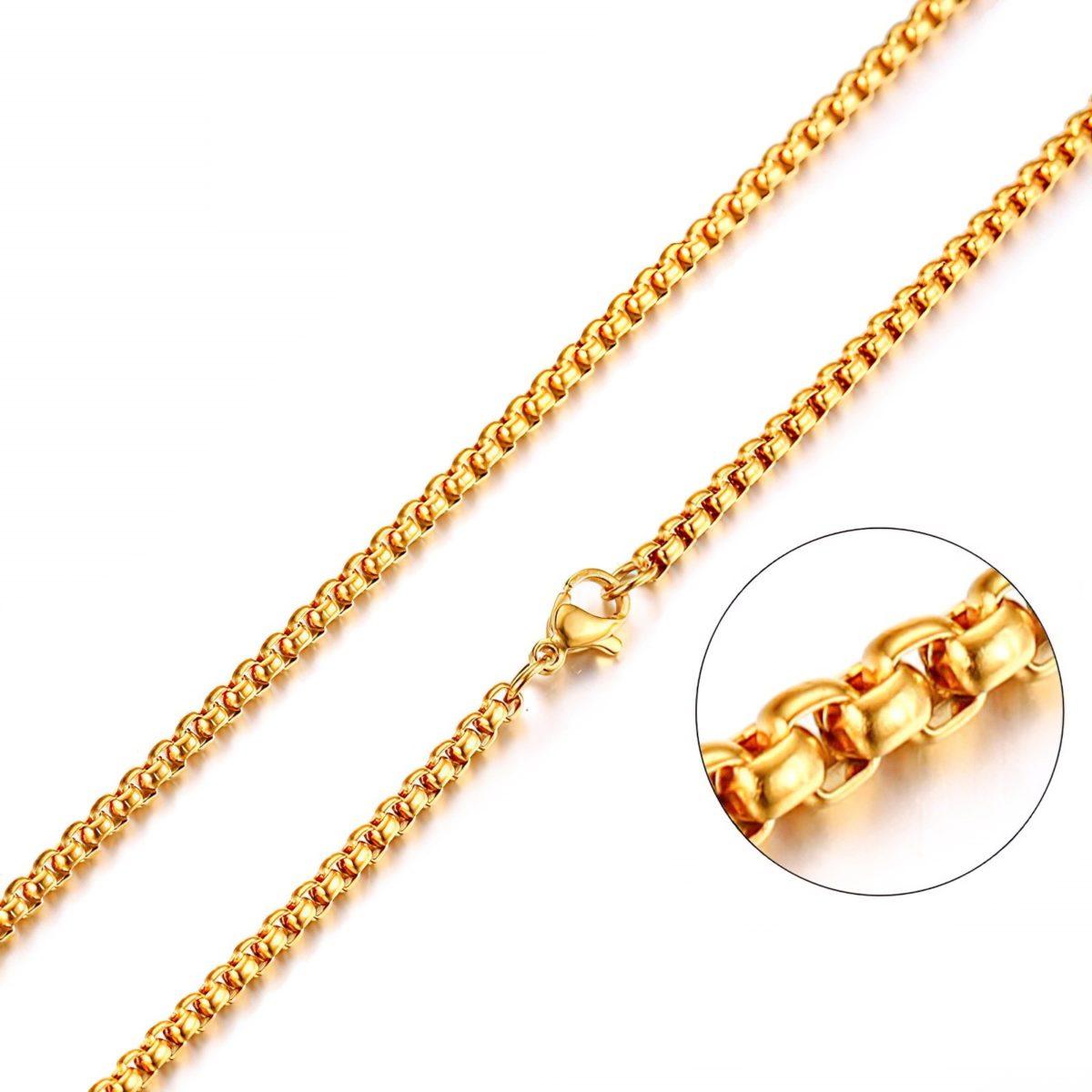 Золотистая цепь на шею
